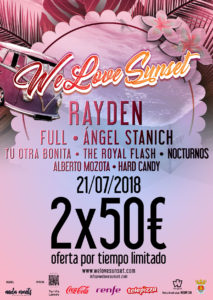 We Love Sunset Festival Oferta Entradas 2x50 EUR