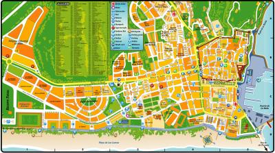Mapa del casco antiguo de Tarifa