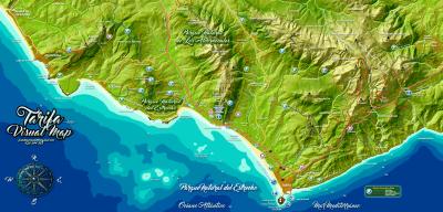 Mapa de la zona de Tarifa