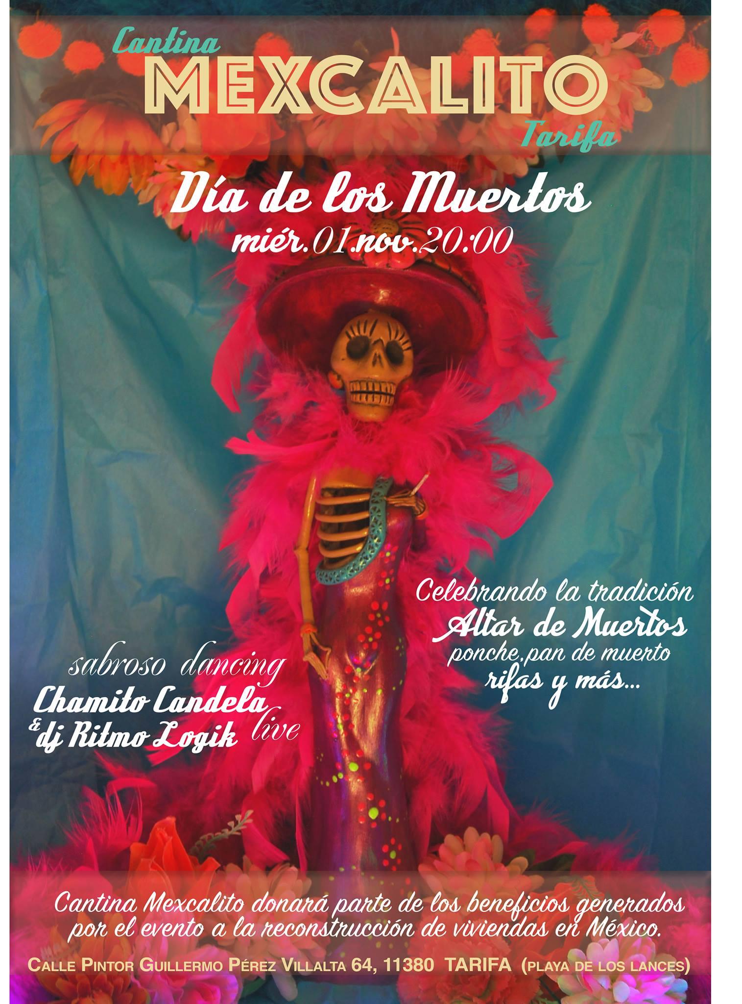 Día de los Muertos Cantina Mexcalito Tarifa
