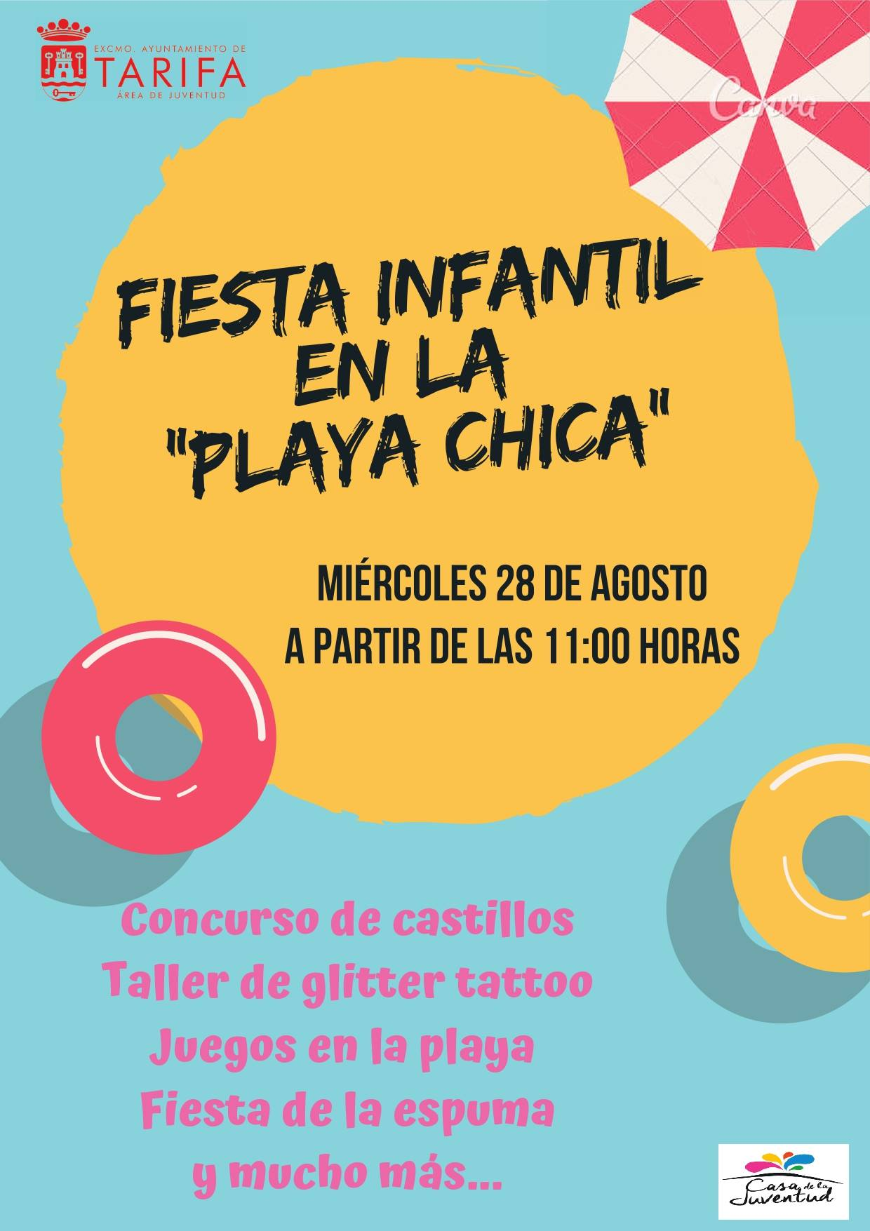 Fiesta Infantil en la Playa Chica de Tarifa Agosto 2019