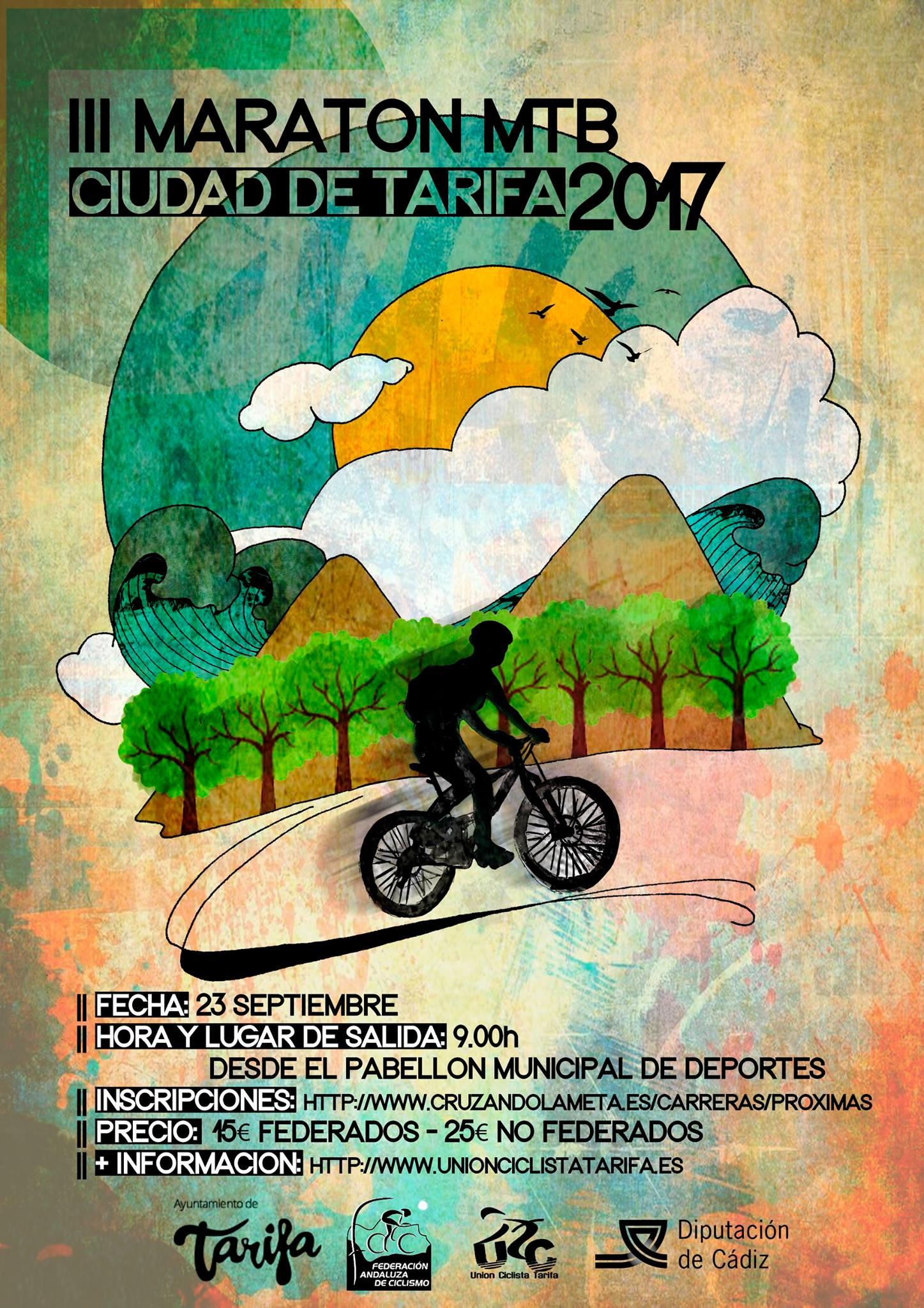 Cartel III Maratón Ciudad de Tarifa 2017