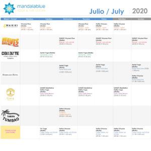 Mandalablue Yoga Tarifa Summer 2020