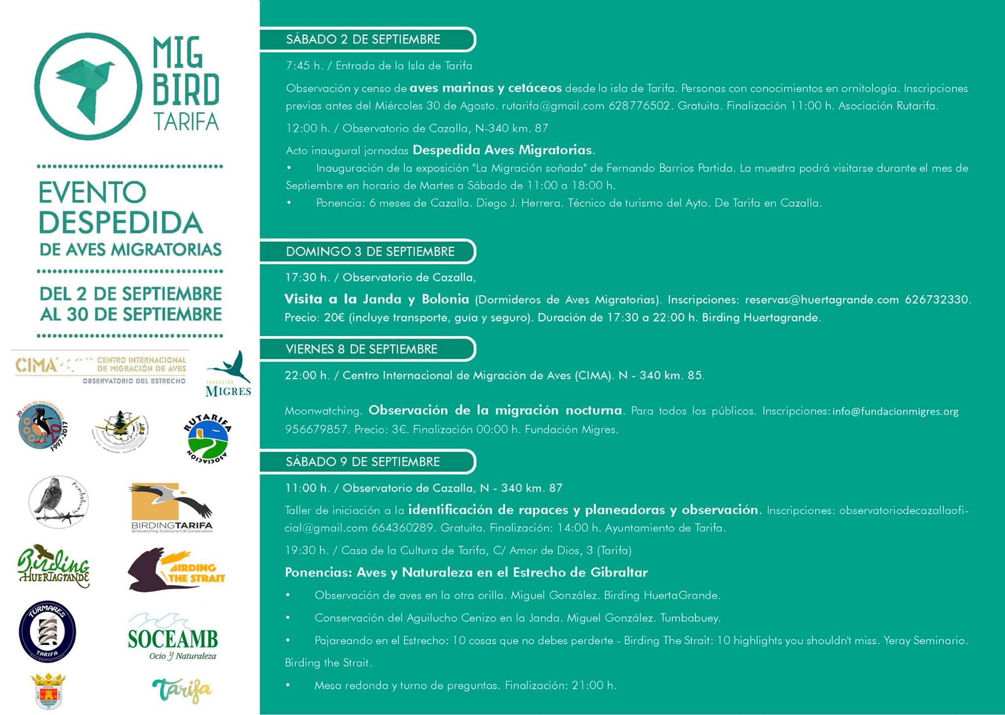 Mig Bird Tarifa 2017 Programa
