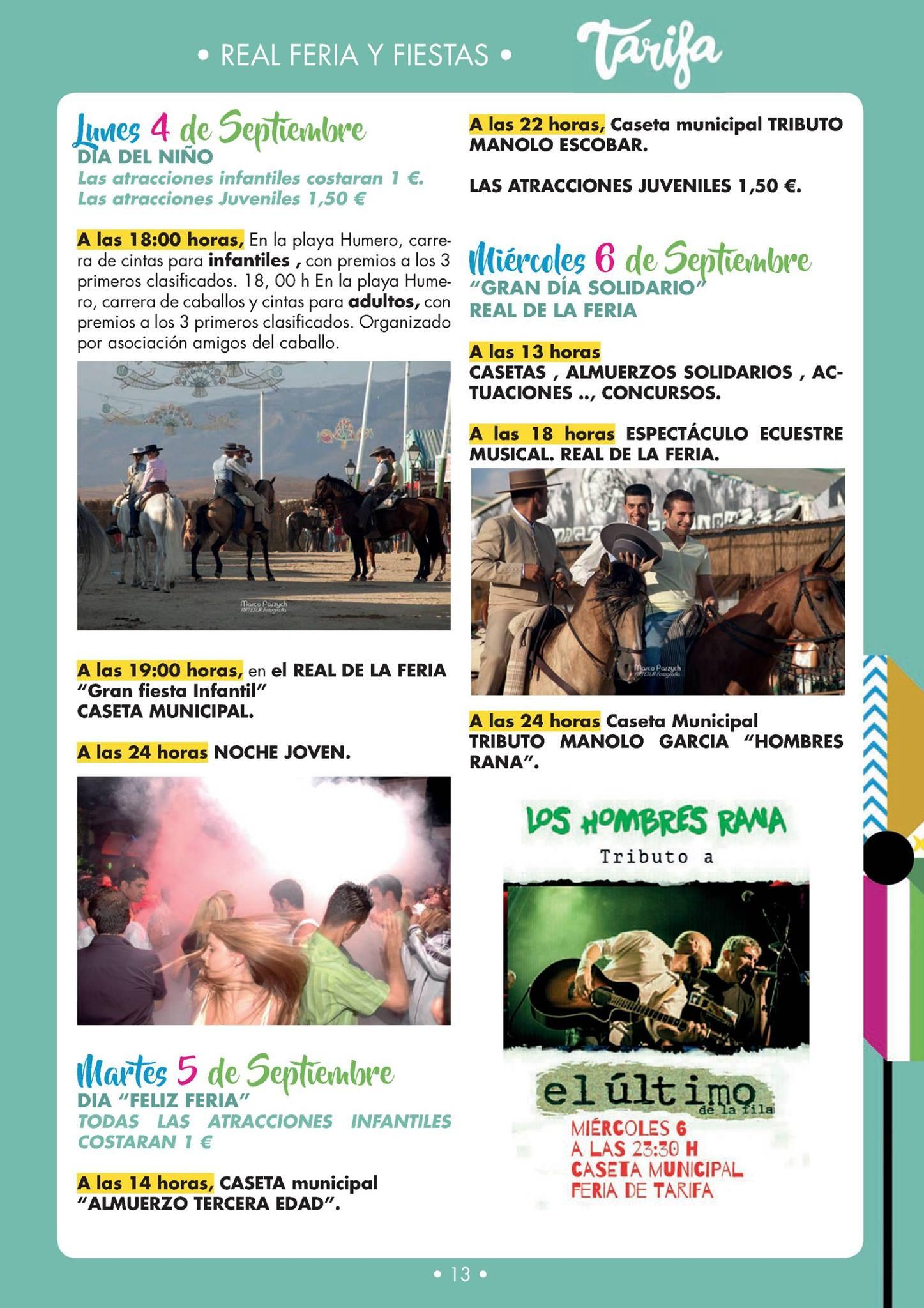 Programa Feria Tarifa 2017