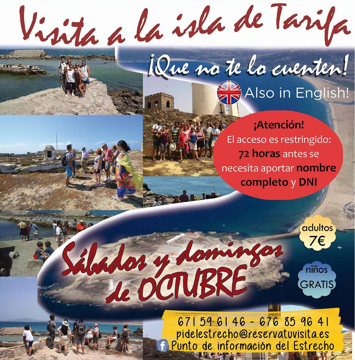 Visita a la Isla de Tarifa Octubre 2017